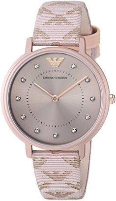 29a605291 Emporio Armani Womens Kappa Quartz Stainless Steel and Leather Casual Watch  ColorPink Model AR11010 >