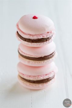 Chocolate Cherry French Macarons by Taste and Tell