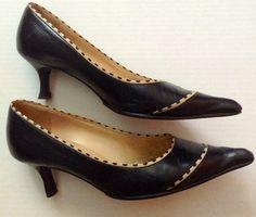 Chanel Leather Heels Kitten Heels Black Pumps $161