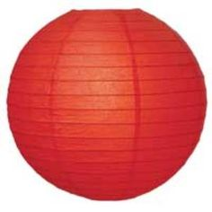 """Bulk Red Paper 16"""" Lanterns Packs of 6, 16"""" Red Even Ribbed Paper Lantern 