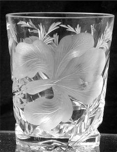 Hawkes American Brilliant Cut Glass Iris Tumber by GrandIndulgence, $130.00
