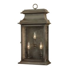 View the Elk Lighting 5730-C Provincial Charcoal 3 Light 24 Inch Tall Outdoor Wall Sconce at LightingDirect.com.