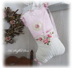 Pink And Shabby Roses Chenille Christmas