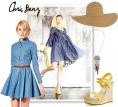 inspiration board for denim dress