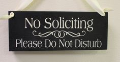 No Soliciting Sign/Please Do Not Disturb/ Handpainted Wood Sign/Decorative Sign/ YOU Choose Color on Etsy, $14.95