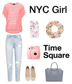 """""""NYC Outfit"""" by liafrancescaholmes ❤ liked on Polyvore featuring Replace, Express, Casetify and Givenchy"""
