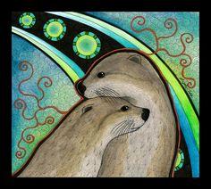 River Otters as Totems by Ravenari.deviantart.com on @DeviantArt