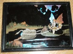 """VINTAGE ART DECO FAIRY BUTTERFLY WING FAIRIES PICTURE 