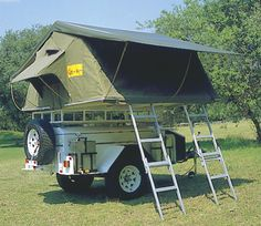 High Clearance Offroad Trailer - : and Off-Road Forum Camping Forum, Off Road Camping, Diy Camping, Trailer Tent, Trailer Diy, Off Road Trailer, Top Tents, Roof Top Tent, Camp Kitchen Box