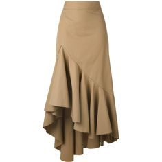 Erika Cavallini asymmetric skirt- would be good for salsaThe statement making huge ruffle.Browse the superb asymmetrical skirts edit at Farfetch. Find ruffled skirts, wrap skirts & more from this luxury asymmetric skirts range. Casual Dresses, Fashion Dresses, Cute Casual Outfits, Tan Skirt, Ruffle Skirt, Asymmetrical Skirt, Cute Skirts, Cotton Skirt, Fashion Sewing