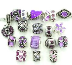 Ten (10) of Assorted Shades of Purple Crystal Rhinestone Beads (Styles You Will Receive Are Shown in Picture Random 10 Bea...  Order at http://www.amazon.com/Assorted-Crystal-Rhinestone-Bracelets-Chamilla/dp/B008MBRY58/ref=zg_bs_3885701_32?tag=bestmacros-20