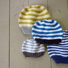 Baby Hat Knitting Pattern, basic beanie, PDF knitted hat pattern: newborn, baby, toddler, kids sizes via Etsy