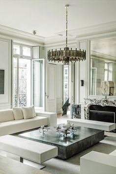 Home goals. This Parisian apartment designed by my favorite French architect Joseph Dirand. Luxury Home Decor, Luxury Interior Design, Cheap Home Decor, Interior Design Living Room, Dream Apartment, Apartment Design, Apartment Living, Paris Apartment Interiors, Luxury Apartments