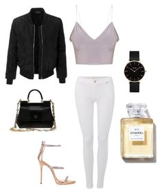"""""""New York"""" by jessicatorrez ❤ liked on Polyvore featuring beauty, LE3NO, 7 For All Mankind, Giuseppe Zanotti, Dolce&Gabbana and CLUSE"""