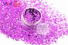 HA2104-225   Laser Holographic Purple Colors Hexagon Shape  Glitter Sequins for nail art  DIY decoration and Holiday decorations