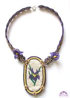 My iris by JewelriesbyMony on Etsy