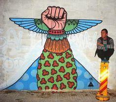 "#streetart in Uruguay by Nicolás Sánchez""Alfalfa"""