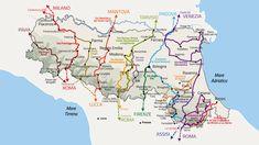 Un nuovo sito internet raggruppa i 14 itinerari a piedi della Regione: un totale di 2.000 km di sentieri e mulattiere, dalla Francigena alla Via degli Dei, dal Cammino di Dante alla Via Romea Germanica