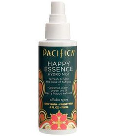 Pacifica Happy Essence Hydro Mist | With a base of coconut milk, dry skin will eat this face mist up. Green tea and calendula also make it super refreshing, while the fruity scent makes you feel like you're sipping on a Mai Tai.