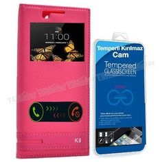 LG K8 Pencereli Kılıf Kapak Pembe + Kırılmaz Cam -  - Price : TL33.90. Buy now at http://www.teleplus.com.tr/index.php/lg-k8-pencereli-kilif-kapak-pembe-kirilmaz-cam.html