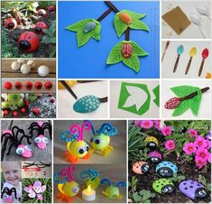 With the arrival of spring you are going to see bugs everywhere in your garden. So why not celebrate spring while doing some crafts? We thought of bringing