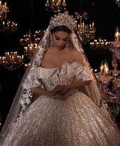 Almost every bride want to feel like a queen on her wedding day. Crown is pretty much the hottest trend going in bridal hair accessories weddings. These worthy crowns Wedding will make a stunning a… Dream Wedding Dresses, Bridal Dresses, Queen Wedding Dress, Princess Wedding, Princess Crowns, Dresses Dresses, Wedding Goals, Beautiful Dresses, Marie