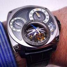 The awesome Harry Winston Histoire de tourbillon 4 on the wrist.