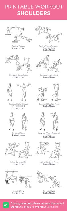 SHOULDERS: my custom printable workout by @WorkoutLabs #workoutlabs #customworkout