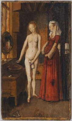Woman at Her Toilet | Harvard Art Museums (?) After Jan van Eyck, Netherlandish ( c. 1390 - 1441)  Previously attributed to Unidentified Artist