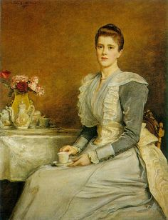 Mrs Joseph Chamberlain, 1891 by John Everett Millais (1829-1896)