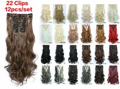 Find More Clip in Hair Extensions Information about 22'' 150g Wavy Clip In Synthetic Hair Extensions, 12pcs/set Curly Clip In Hair Extension, Heat Resistant  Synthetic Clip In Hair,High Quality clip a,China clip long Suppliers, Cheap clip in hair clips from Guangzhou queen hair products co., LTD on Aliexpress.com