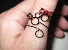 think of the fun tan line this would leave! LOL Mickey and Minnie Wire Wrapped Adjustable Ring by 1ofAkinds, $5.50