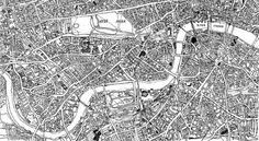Designspiration — Hand-Drawn Maps of London: Where The Streets Have No Names | Londonist