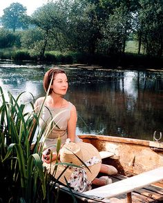 Vivien Leigh at Tickerage Mill in 1967, shortly before her death. Her ashes were scattered on the lake.