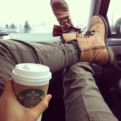 Kickin it in the cold. #wingtip #boots #masculinestyle