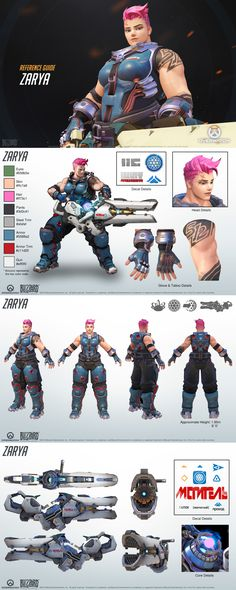 Use these reference guides to help design your Overwatch fan art or Cosplay! Character Model Sheet, Character Modeling, Game Character, Character Concept, Game Design, 3d Figures, Game Concept Art, Character Design References, Character Design Inspiration