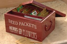 seed packet box - Google Search