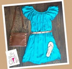 Love This #TKEES Combo☺️ Dress $55 Belt $24 TKEES $52 Hammitt Getty Bag $325 ☎️210-824-9988
