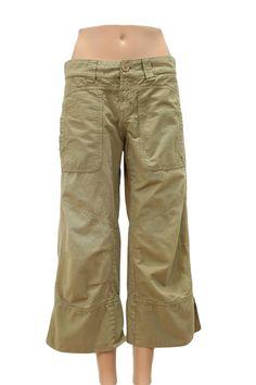 Billy Blues Dark Tan Cargo Capri Pants Size 6