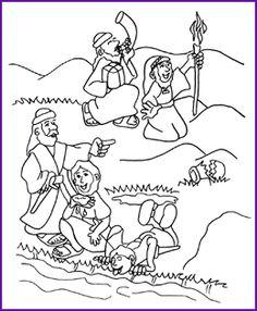 gideon coloring page kids korner biblewise - Gideon Bible Story Coloring Pages
