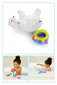 Arctic Polar Bears, Fish Ring, Stacking Toys, Ring Toss, Floating, Bath Time, Motor Skills, Cleaning Wipes, Play