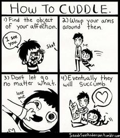 Me! My poor husband!   Funny Pictures - How to Cuddle