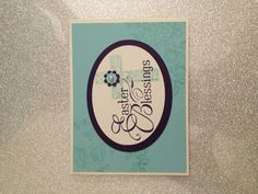 Easter card featuring Stampin' Up! Easter Blessings stamp set #StampinUp