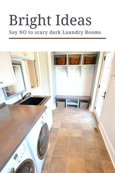 Say NO to scary dark laundry rooms. Here are some laundry room decor ideas to brighten up your space and make this process a little easier!