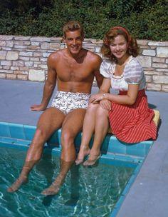 Photos: Stunning Rare Photographs from Hollywood's Kodachrome Era | Vanity Fair - Guy Madison & Shirley Temple