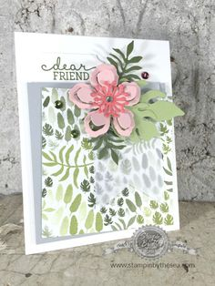 Botanical Blooms, Stampin' Up!, Occasions Catalog, Flowers, Die Cuts, Birthday Blooms, Kimberly Van Diepen