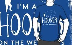 'I'm A Hooker On The Weekends Funny Fishing T Shirt' T-Shirt by bitsnbobs Fishing Humor, Fishing T Shirts, Classic T Shirts, Canvas Prints, Funny, People, Mens Tops, Stuff To Buy, Photo Canvas Prints