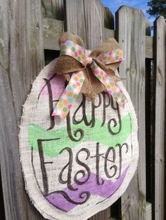 Burlap Easter egg  by BurlapHappy on Etsy, $40.00