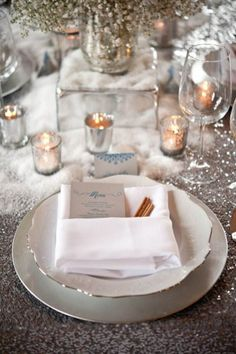 Beautiful Winter Party / Wedding table setting!
