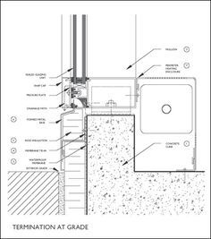 curtain wall base detail - Google Search